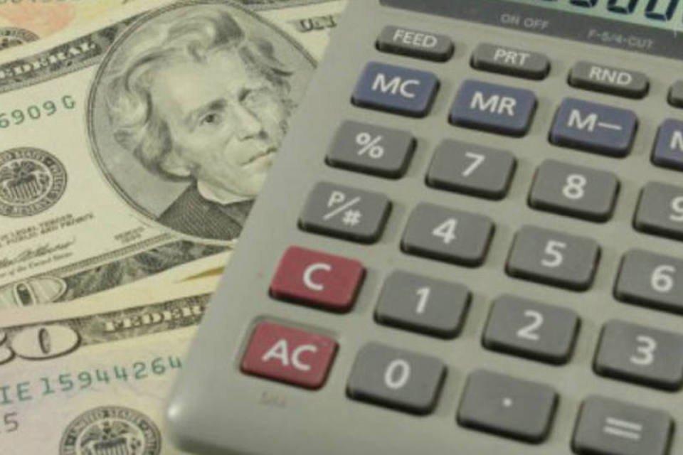Dólar e calculadora