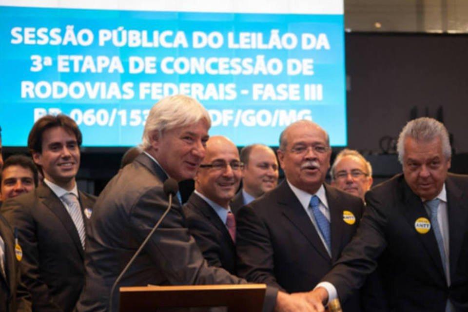Terceiro leilão de rodovias do Programa de Investimentos em Logística (PIL), promovido pela Agência Nacional de Transportes Terrestres (ANTT), na sede da BM%26F Bovespa, em São Paulo