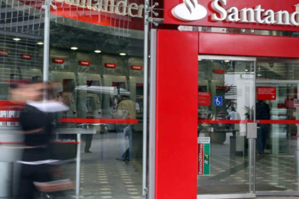 Agência do Santander na Avenida Paulista, em São Paulo