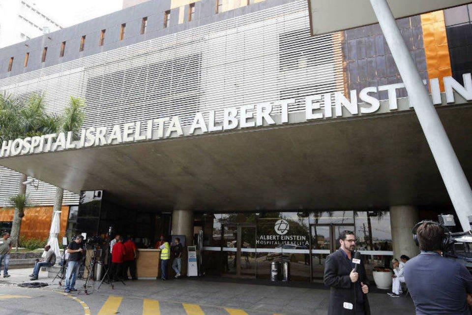 Entrada do Hospital Albert Einstein, onde Pelé está internado