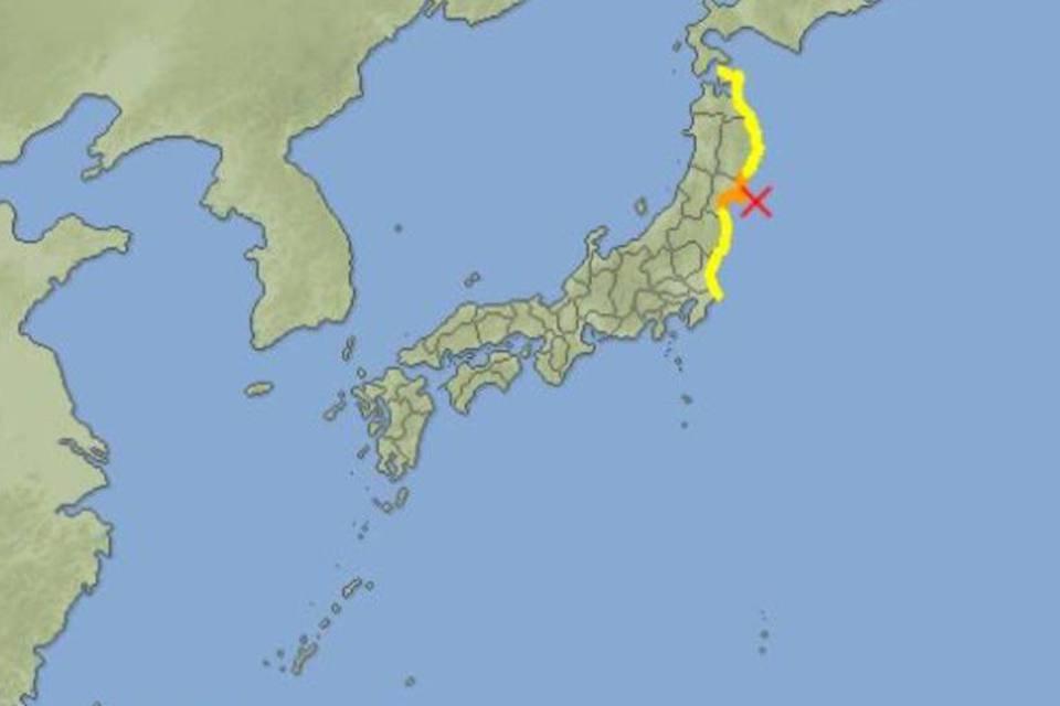 Alerta de Tsunami no Japão em 7 de abril de 2011