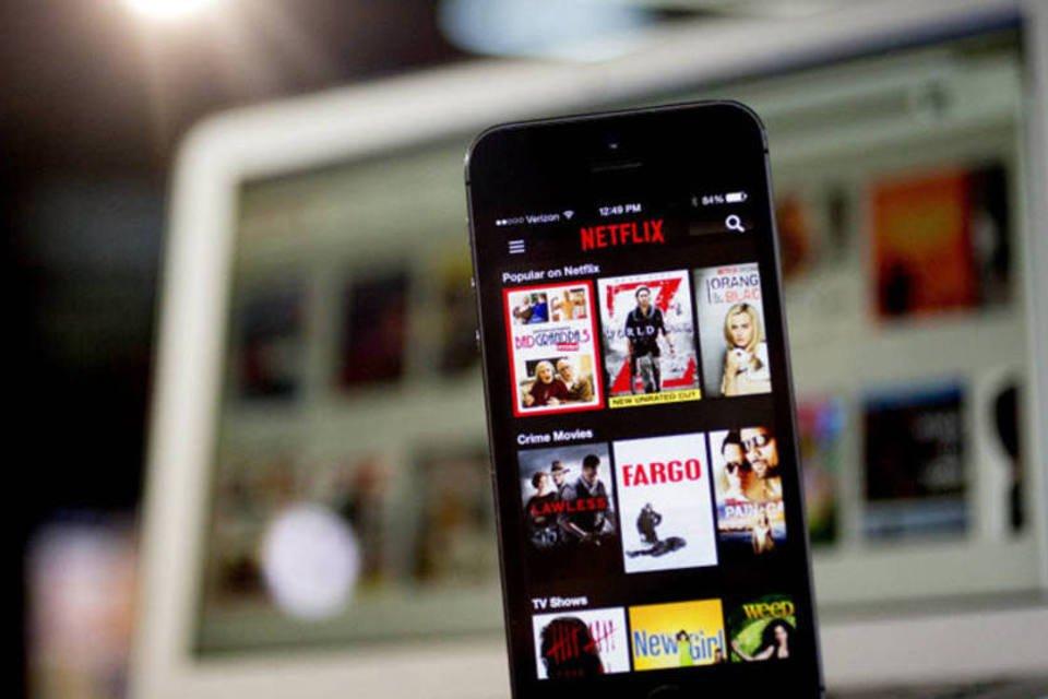 Aplicativo do Netflix em um iPhone 5s