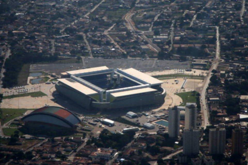 A Arena Pantanal, em Cuiabá, Mato Grosso