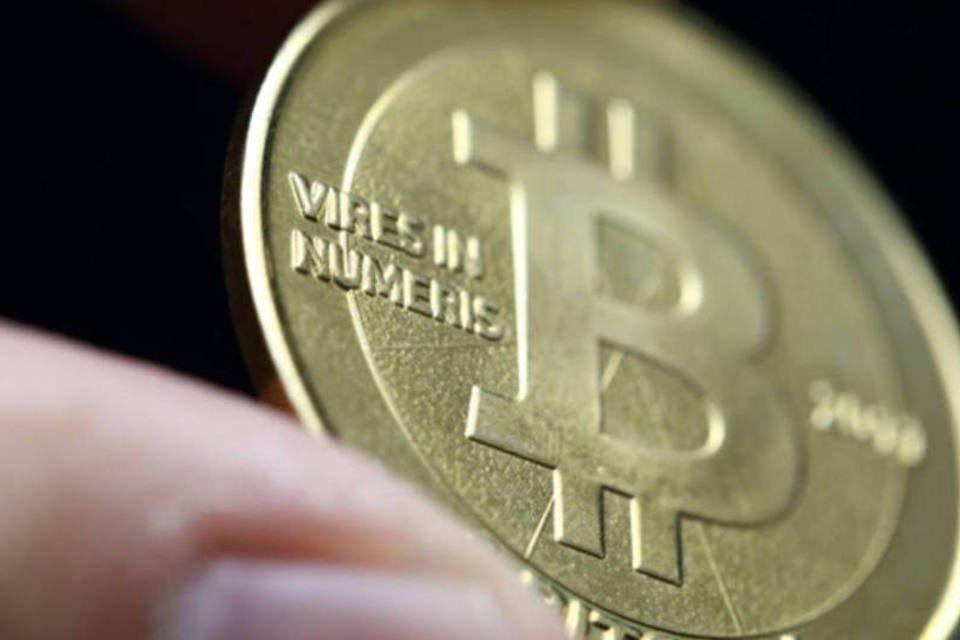 Moeda representando um Bitcoin