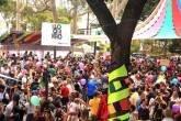 """Foliões de São Paulo no tradicional """"Bloquinho"""" que aconteceu em Pinheiros em 31 de janeiro. Fernanda Carvalho/Fotos Públicas"""