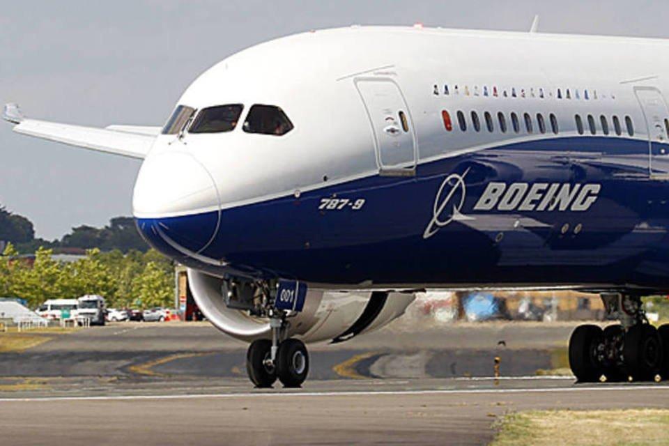 Boeing 787-9 Dreamliner na feira de Farnborough