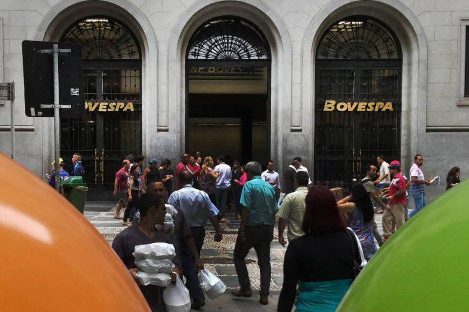 Entrada da Bolsa de Valores de São Paulo, a Bovespa