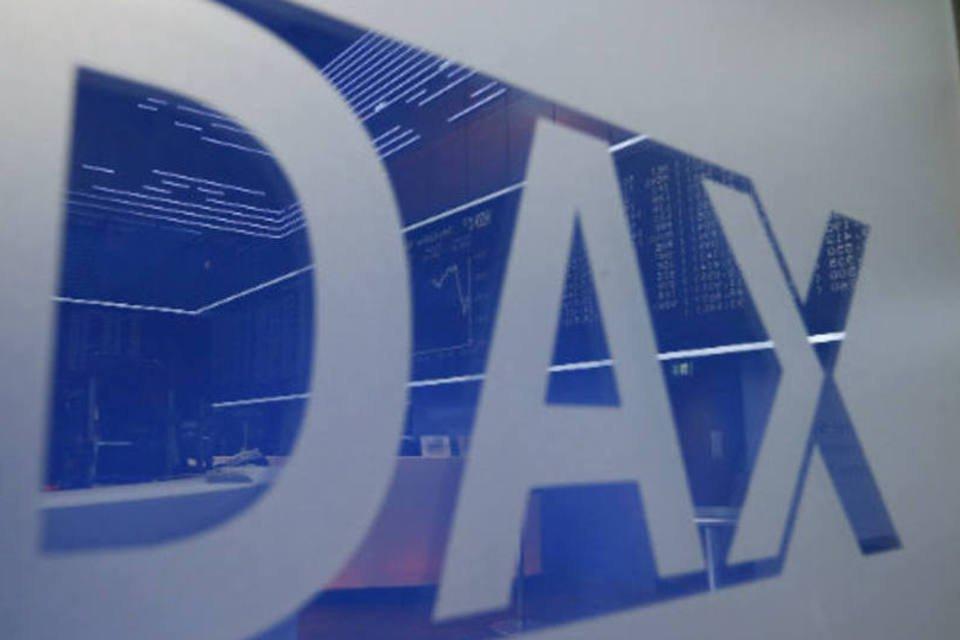 Símbolo do índice DAX na bolsa de Frankfurt