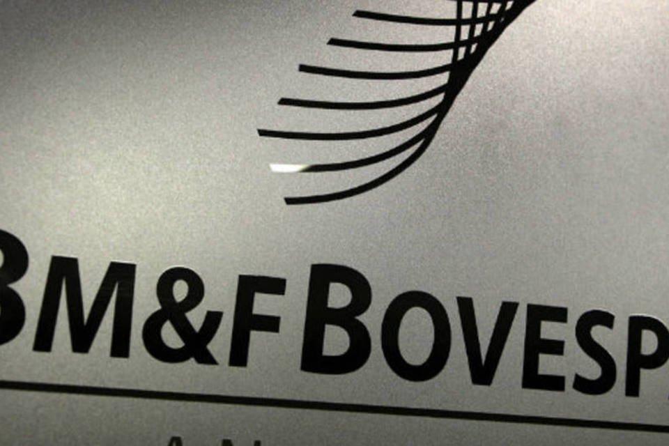 Logo da BM&FBovespa na sede da Bovespa, em São Paulo