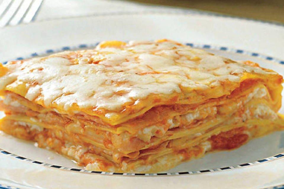 Lasanha: um dos pratos prediletos na hora de cozinhar no Dia das Mães