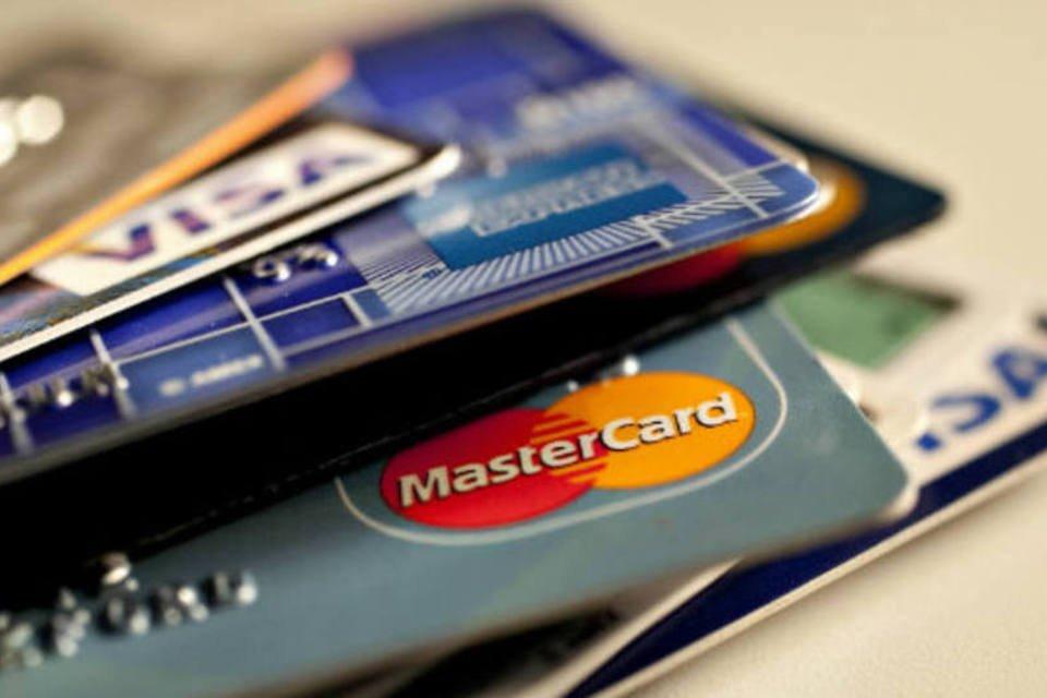 Pagamento: cartões de crédito