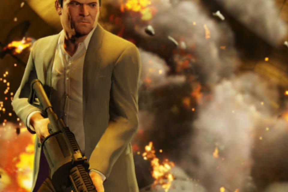 """Cena do game """"Grand Theft Auto V (GTA V)"""""""