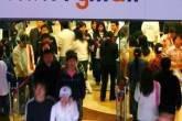 Movimentação em shopping na China