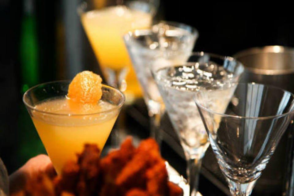 Drinks com bebidas da Diageo durante o United States Bartenders, em Nova York
