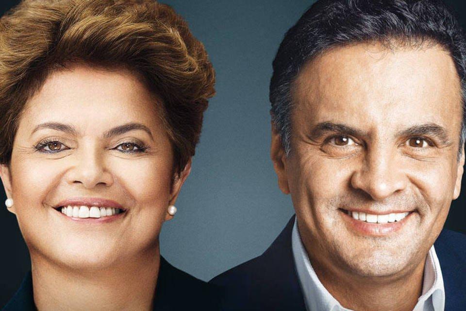 Dilma Rousseff e Aécio Neves, canditatos à Presidência da República