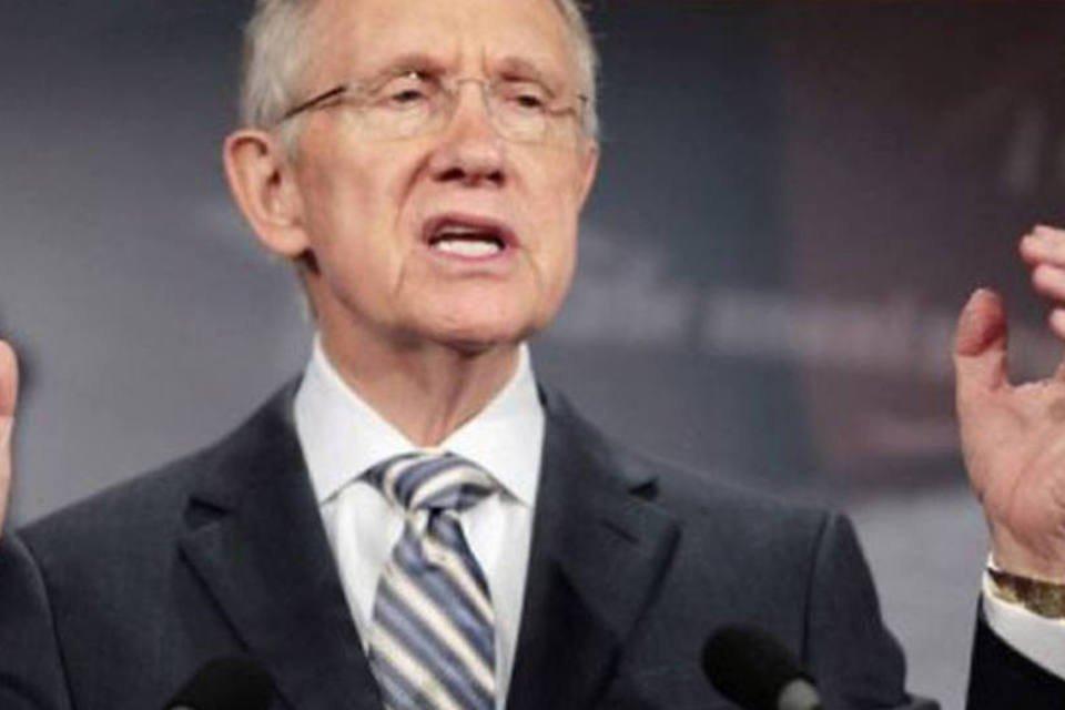 O líder da maioria democrata no Senado americano, Harry Reid
