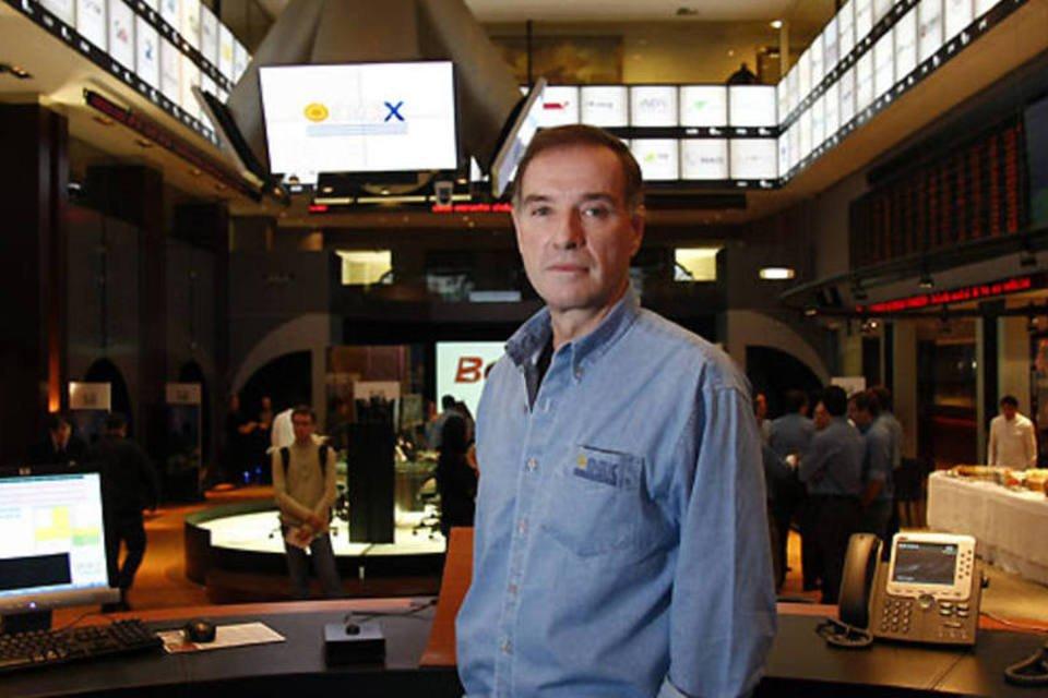 Eike Batista durante a oferta pública inicial de ações da petrolífera OGX, na Bovespa, em 2008