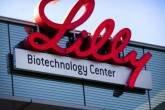 Logo na entrada da Sede da farmacêutica Eli Lilly, nos Estados Unidos
