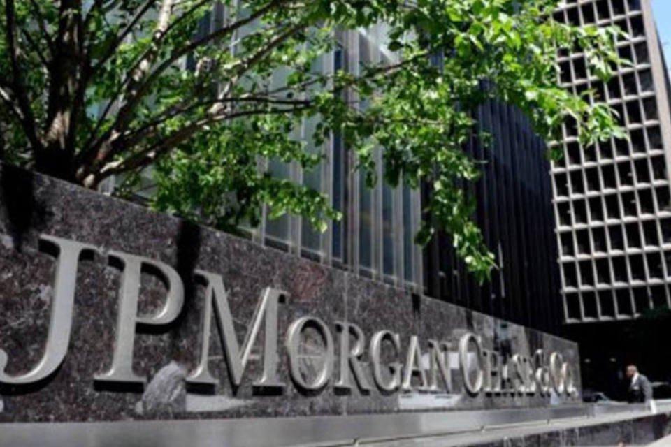 Entrada do banco JP Morgan Chase na Park Avenue, em Nova York