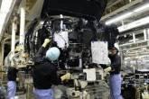 Fábrica de automóveis no Japão