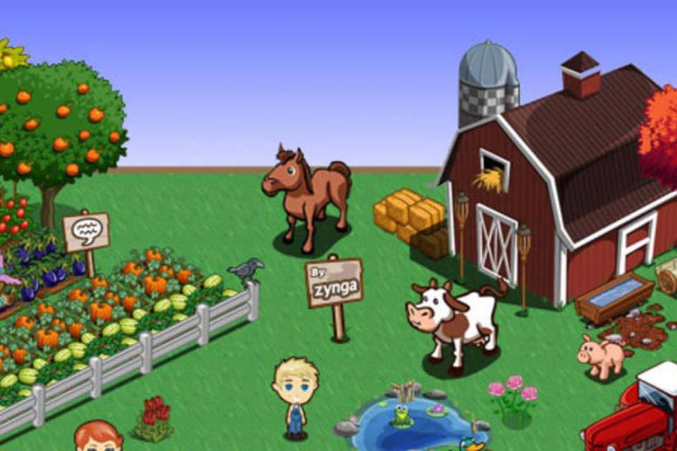 O jogo social FarmVille, da Zynga