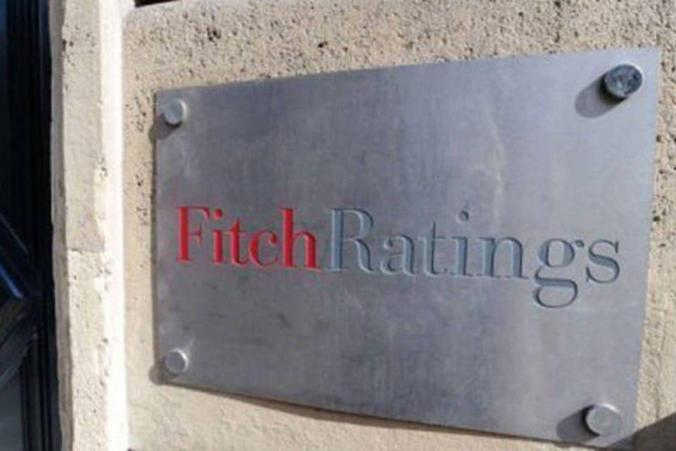 Entrada do prédio da Fitch Ratings, em Paris