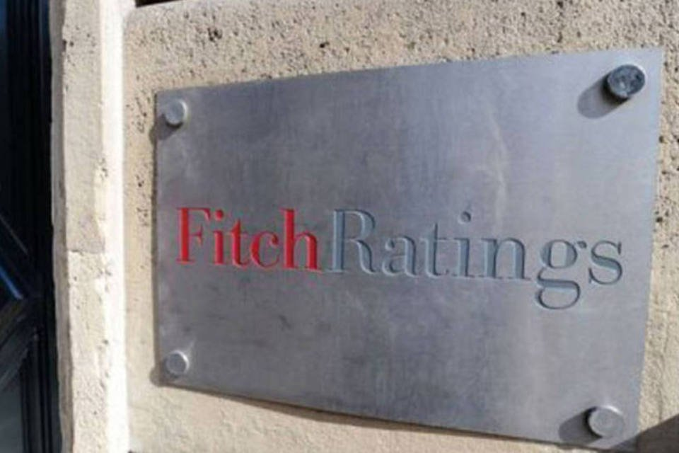 Entrada do prédio da Fitch Ratings, em Paris