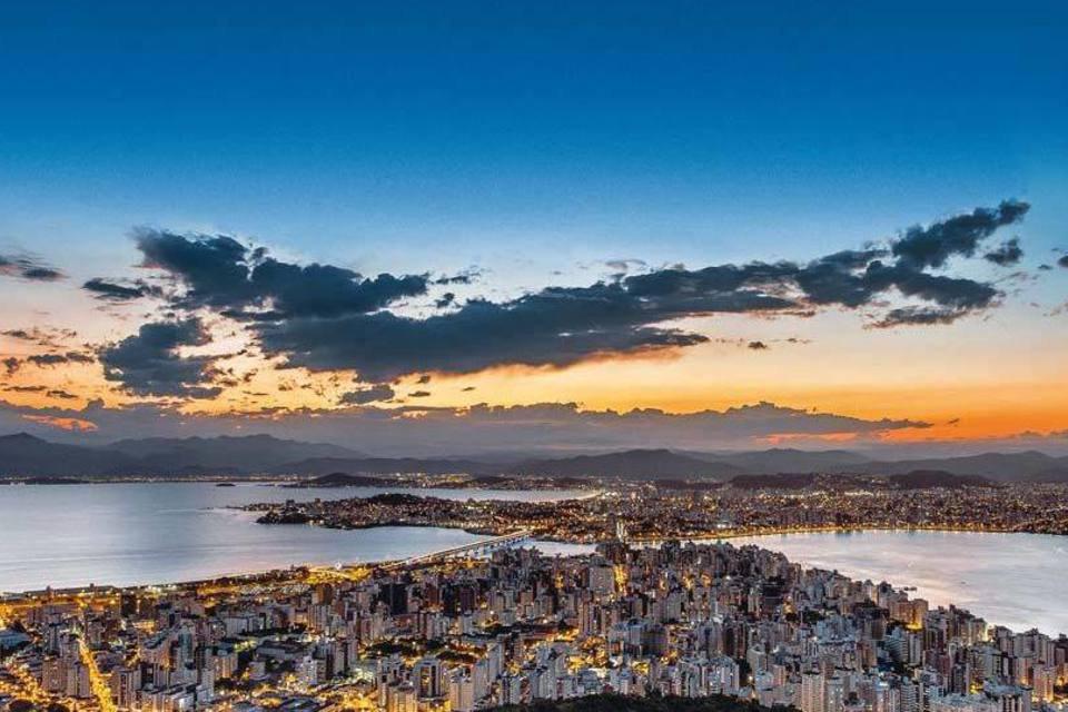 Vista aérea de Florianópolis
