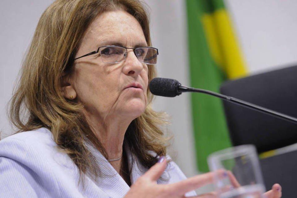 Presidente da Petrobras, Graça Foster, presta depoimento à Comissão Parlamentar Mista de Inquérito (CPMI) que investiga supostas irregularidades na estatal
