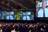 Howard Schultz, CEO do Starbucks, em apresentação aos brasileiros na HSM Expomanagement 2012