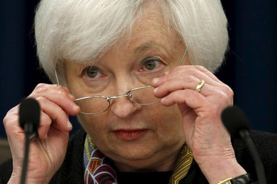 Janet Yellen, presidente do Federal Reserve dos Estados Unidos, durante entrevista, dia 16/03/2016