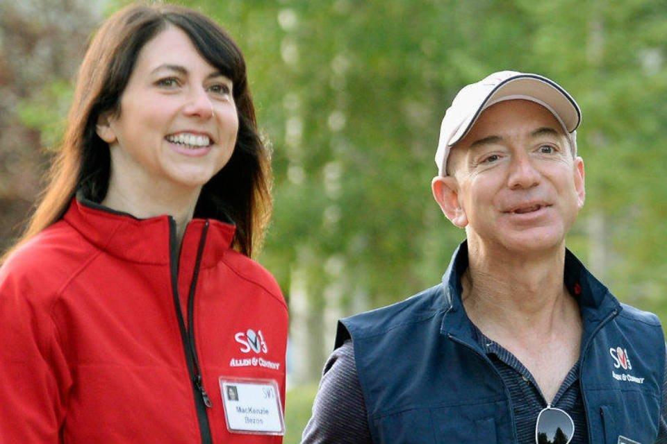 7. Jeff and Mackenzie Bezos