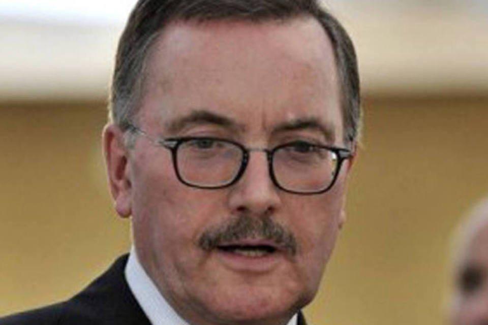 Jurgen Stark, membro do conselho de administração do Banco Central europeu (BCE), em Atenas