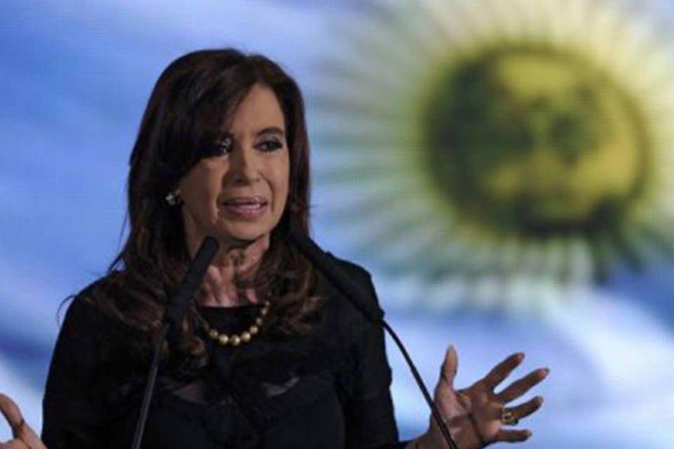 Cristina Kirchner, presidente da Argentina, em 10 de outubro