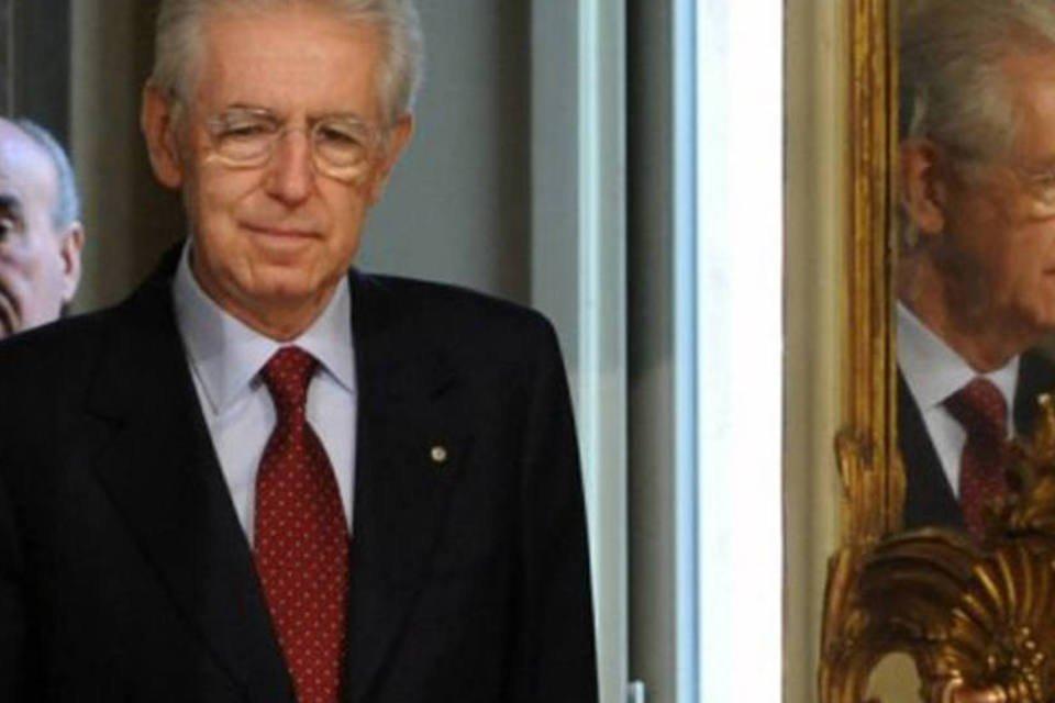 O premiê italiano, Mario Monti