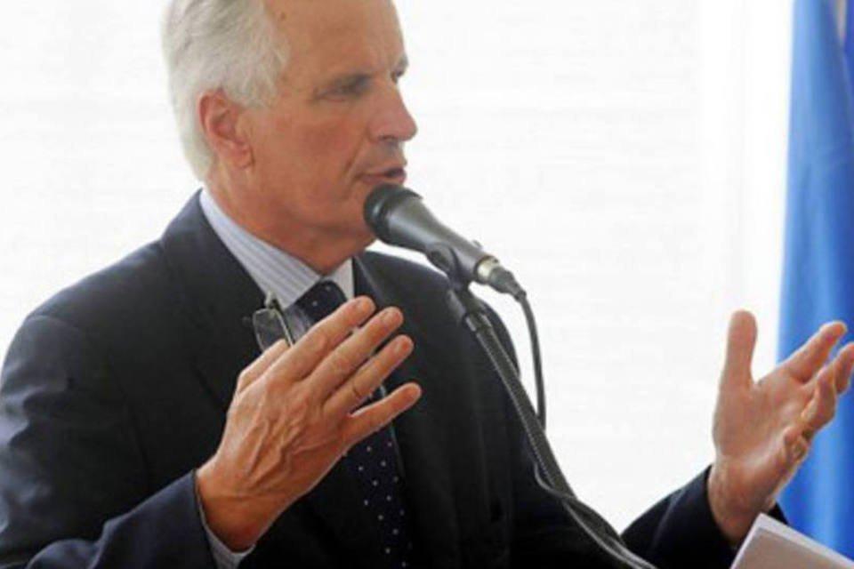 Michel Barnier, comissário europeu de Mercado Interno (Thony Belizaire/AFP)