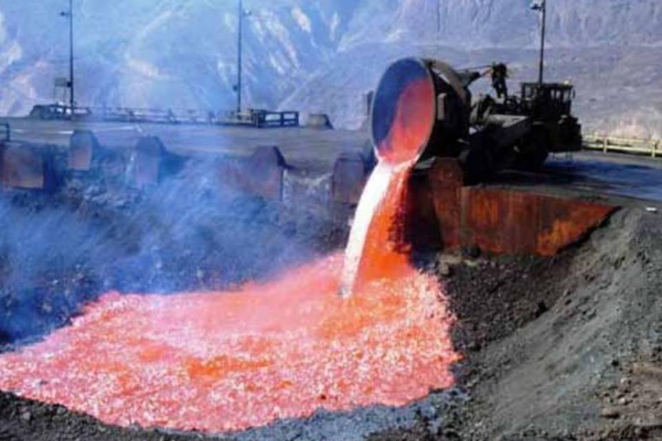 Mineração de cobre no Chile
