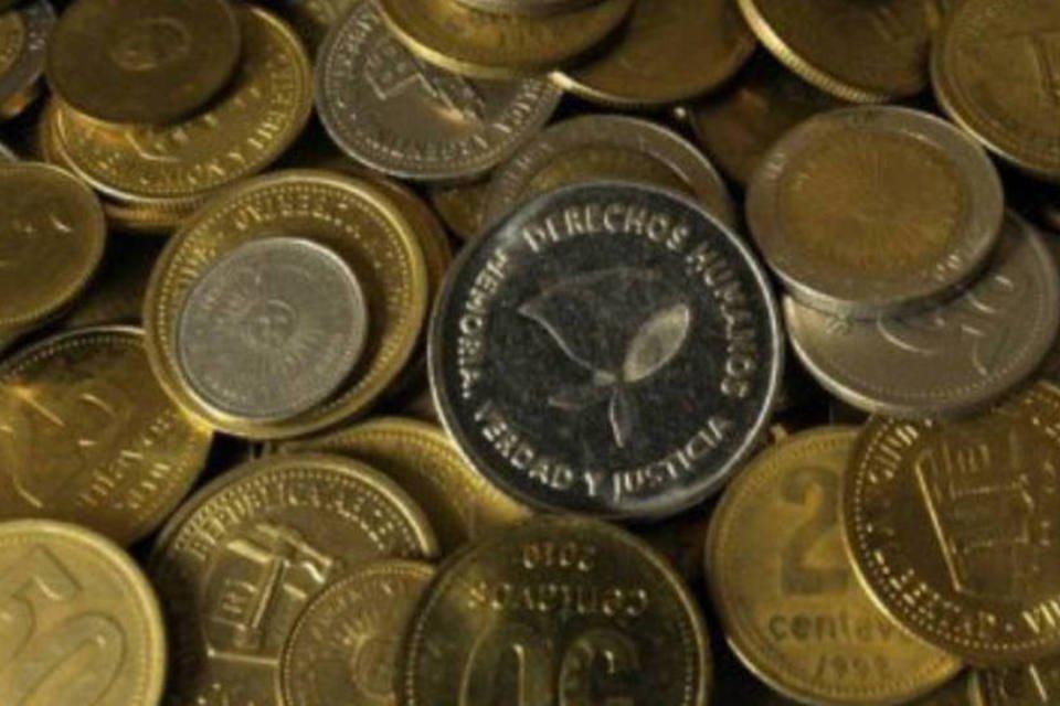 Moedas: peso argentino