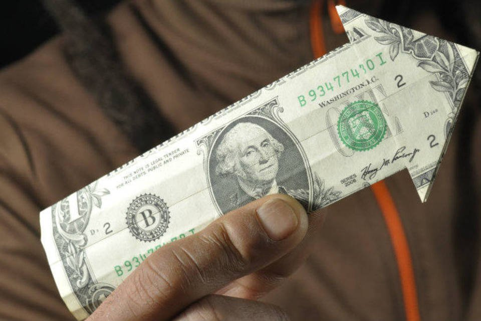 Nota de dólar; alta