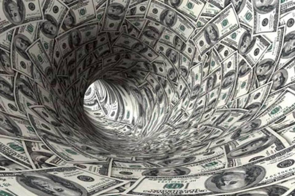 Túnel de notas de dólar