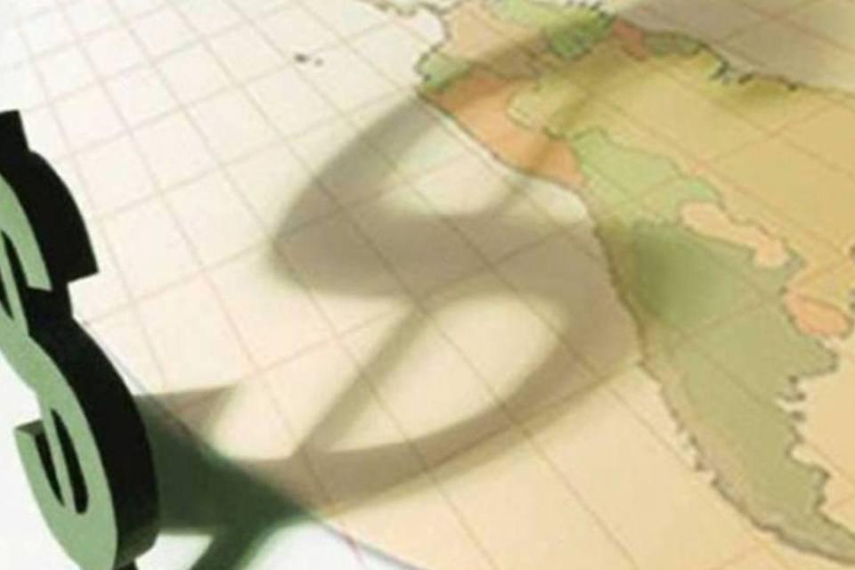Cifrão com mapa-múndi