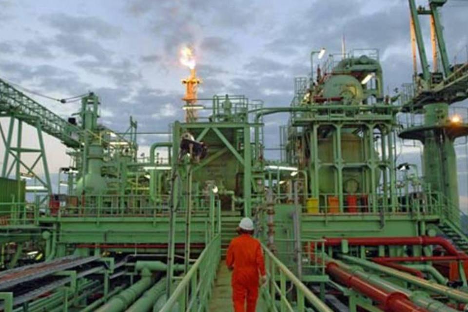 Plataforma da Petrobras no Campo de Tupi, na Bacia de Santos.