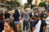 Protesto na Faria Lima contra reorganização escolar - 30/12/2015