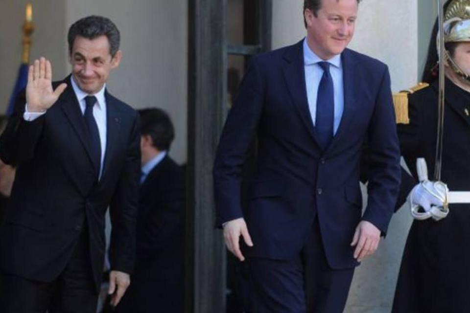 Sarkozy e Cameron