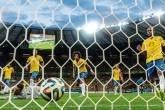 Seleção brasileira de futebol em jogo da Copa do Mundo 2014