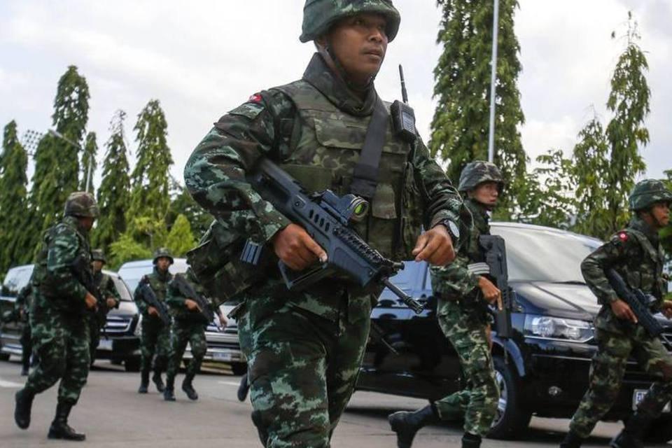 Soldados na Tailândia