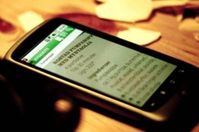 Evernote no celular