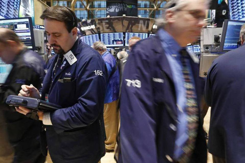 Traders na bolsa de Nova York