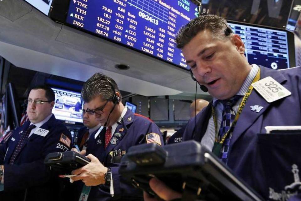 Traders na Bolsa de Nova York: