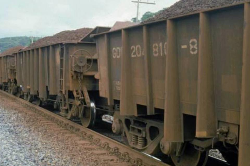 Pátio ferroviário da Usiminas